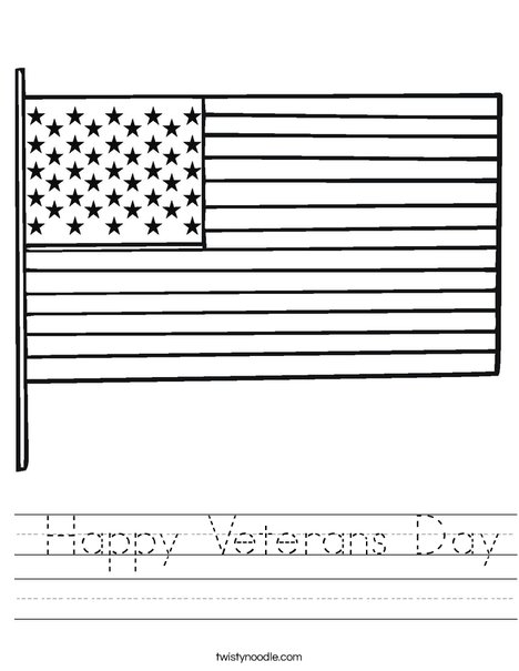 USA Flag Worksheet