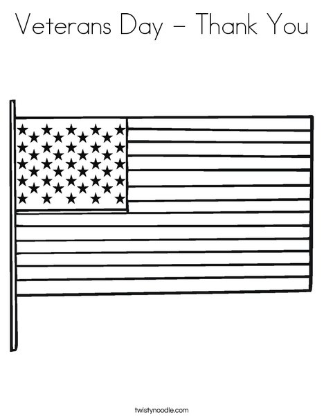 veterans day thank you coloring page twisty noodle