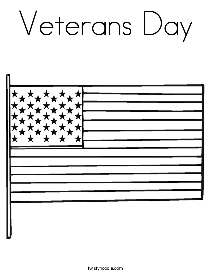 Veterans Day Coloring Page - Twisty Noodle