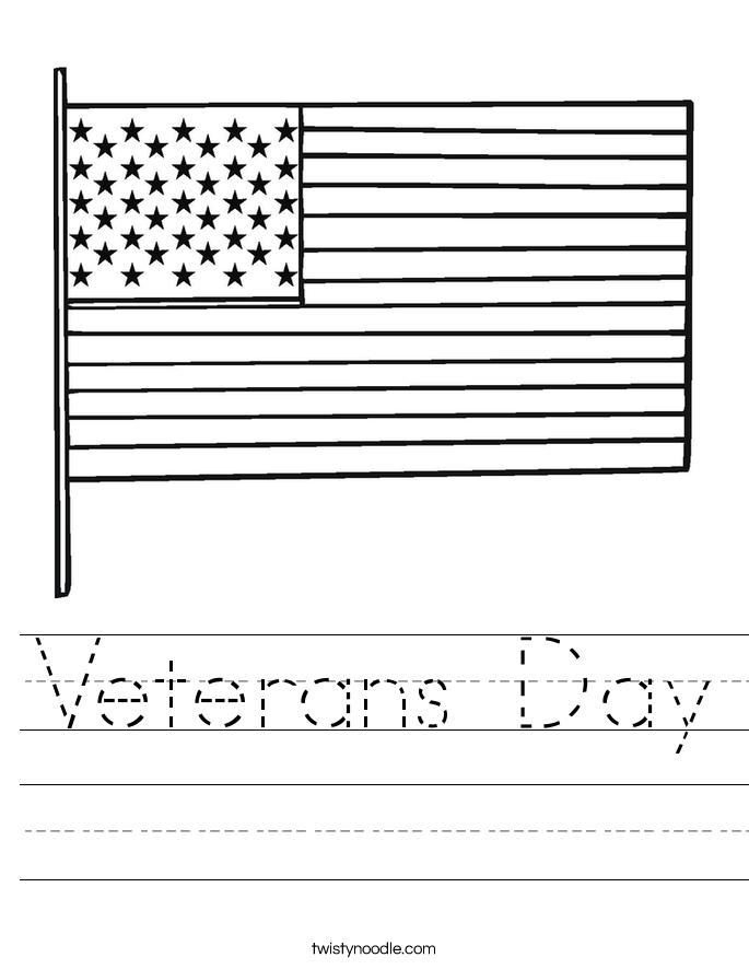 Veterans Day Worksheet Twisty Noodle