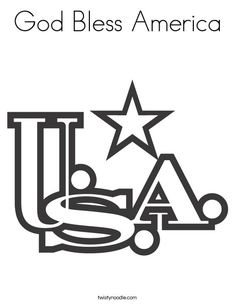 USA Coloring Page