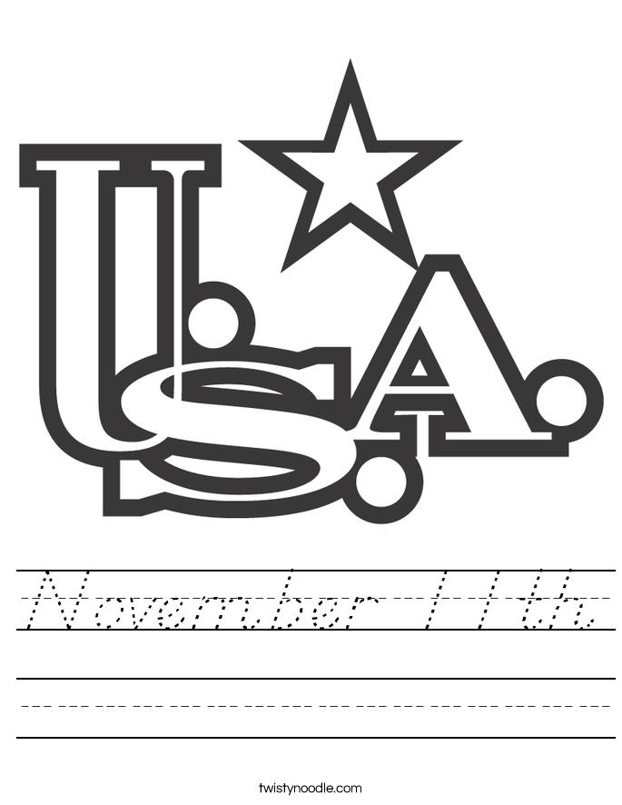 November 11th Worksheet