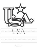USA Handwriting Sheet