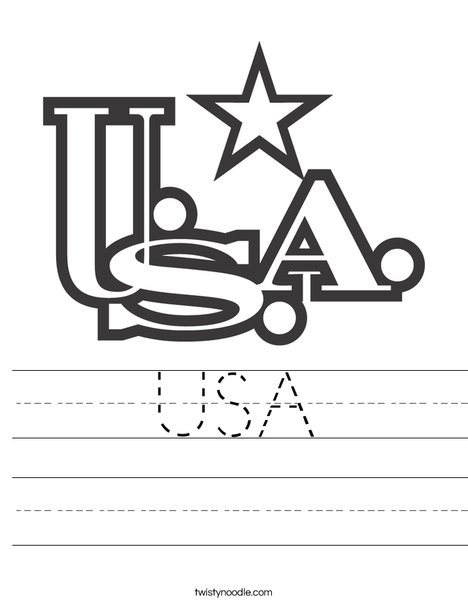 USA Worksheet