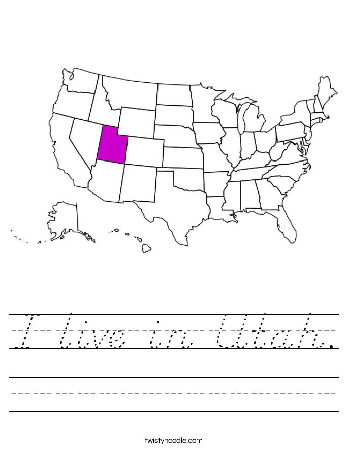 I live in Utah. Worksheet