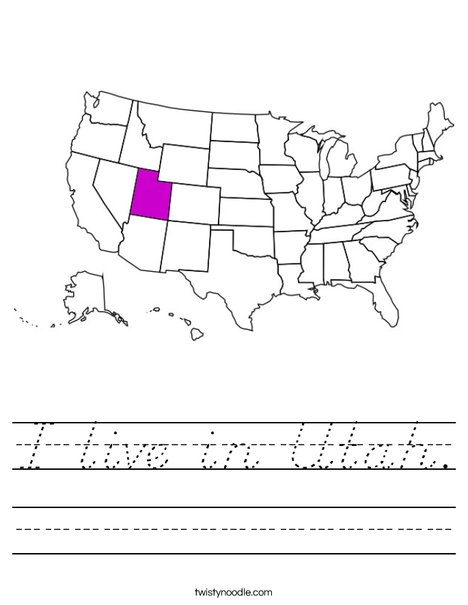 Utah Worksheet