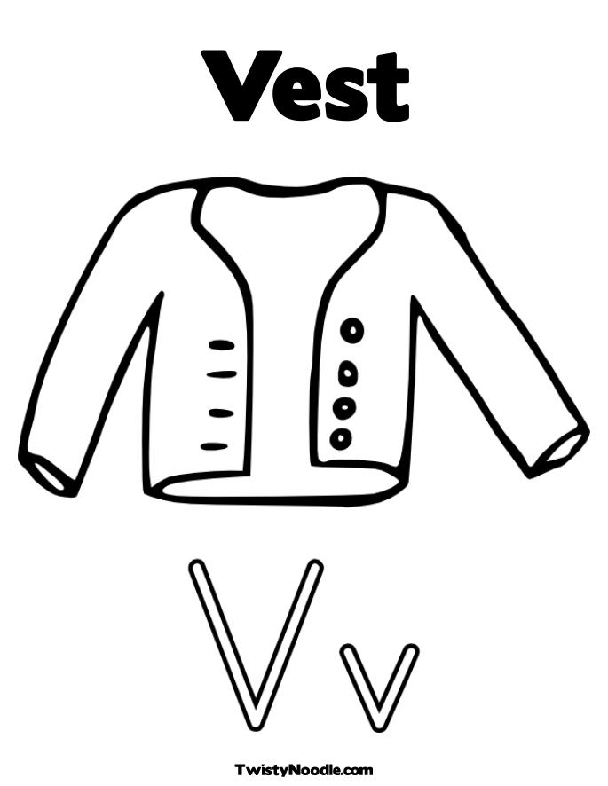 coloring pages vest