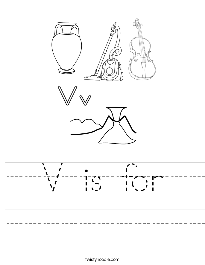 V is for Worksheet