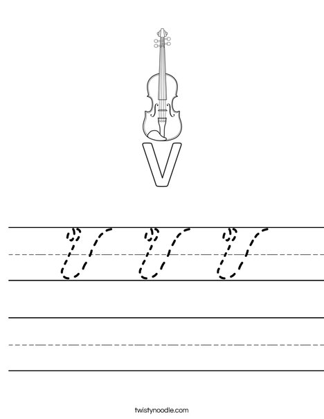 V Violin Worksheet