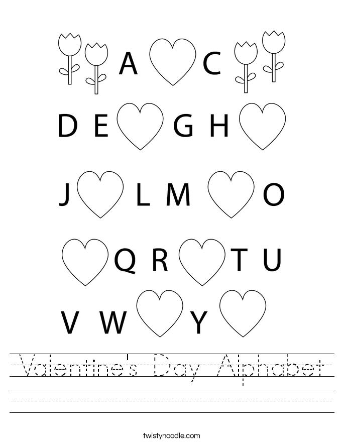 Valentine's Day Alphabet Worksheet