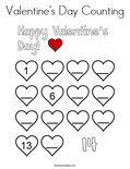 Valentine's Day Counting Coloring Page - Twisty Noodle