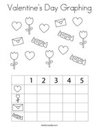 Valentine's Day Graphing Coloring Page