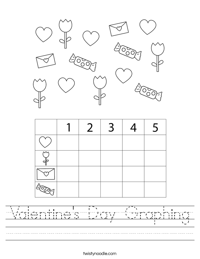 Valentine's Day Graphing Worksheet