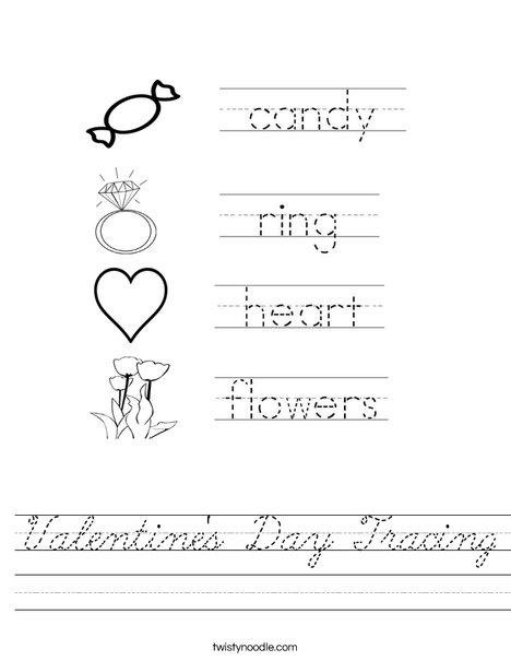 Valentine's Day Handwriting Worksheet