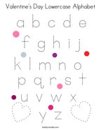 Valentine's Day Lowercase Alphabet Coloring Page