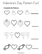Valentine's Day Pattern Fun Coloring Page