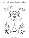 For Halloween I want to be...Coloring Page