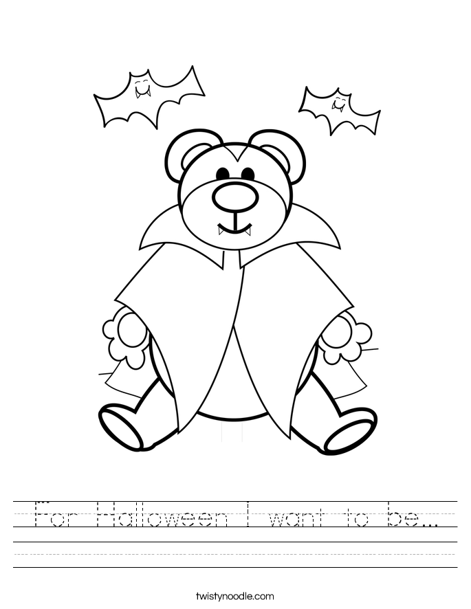 For Halloween I want to be... Worksheet
