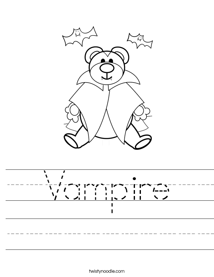 Vampire Worksheet