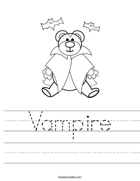 Vampire Worksheet