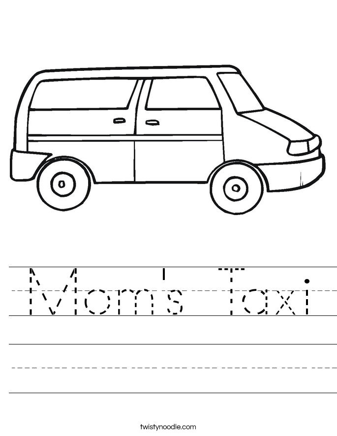 Mom's Taxi Worksheet