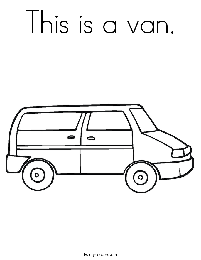 This is a van. Coloring Page