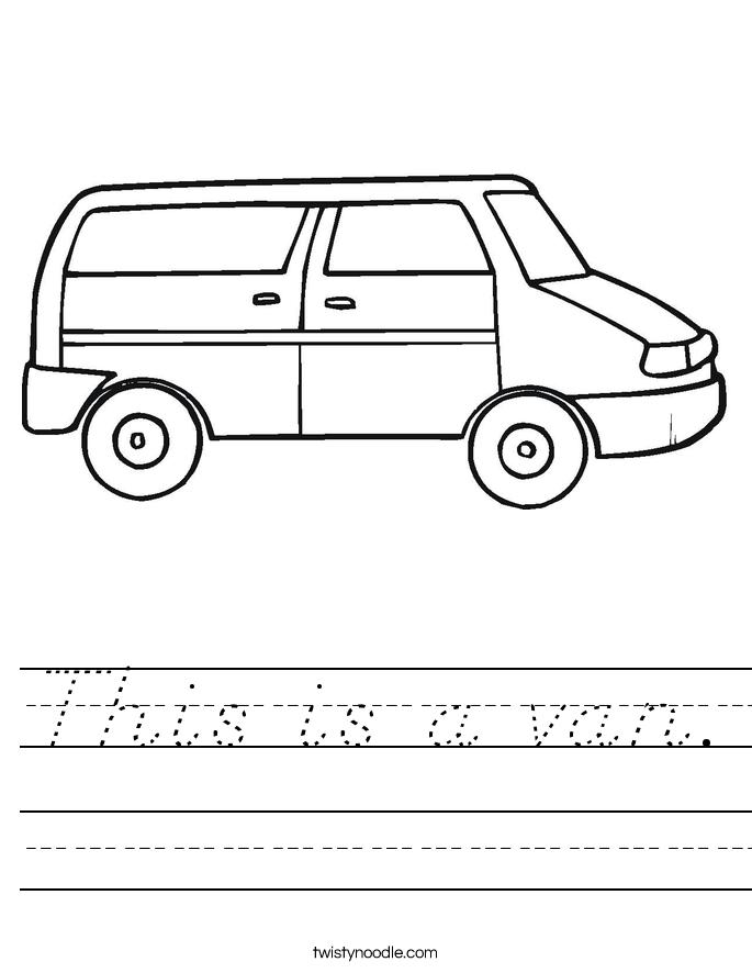 This is a van. Worksheet