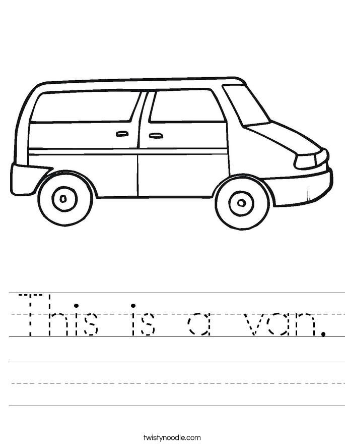 This is a van. Worksheet