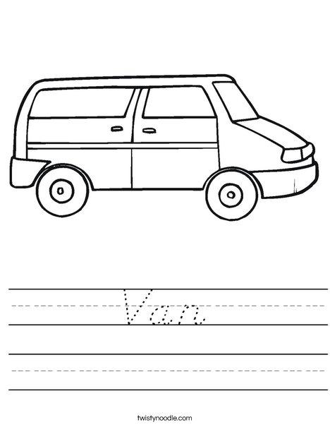 Van Worksheet