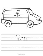 Van Handwriting Sheet