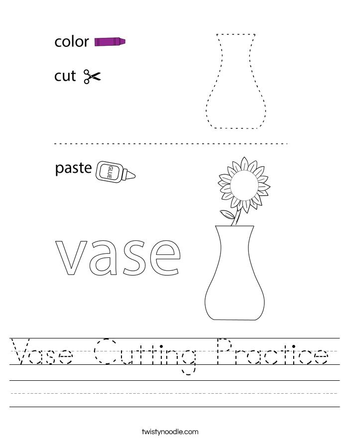 Vase Cutting Practice Worksheet