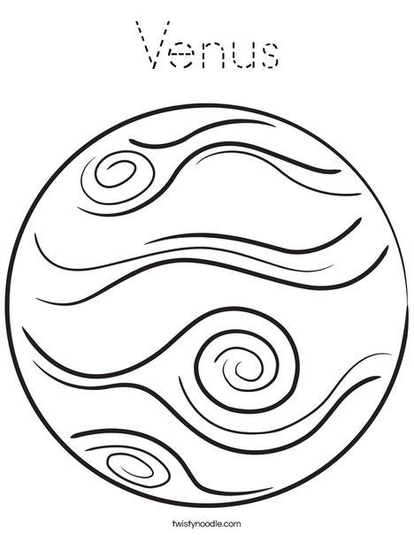 Venus Coloring Page