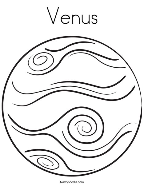 Venus coloring page twisty noodle for Coloring pages mercury