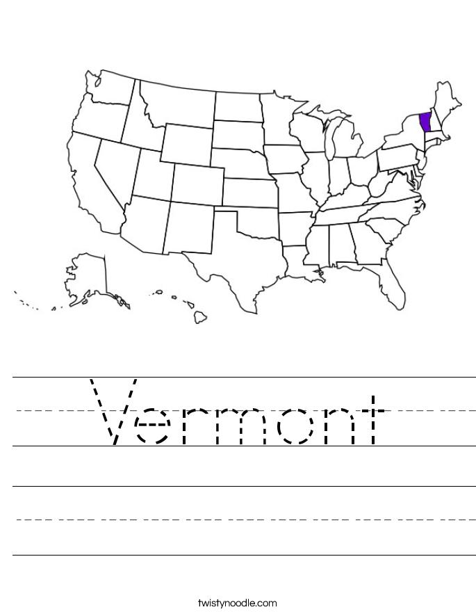 Vermont Worksheet