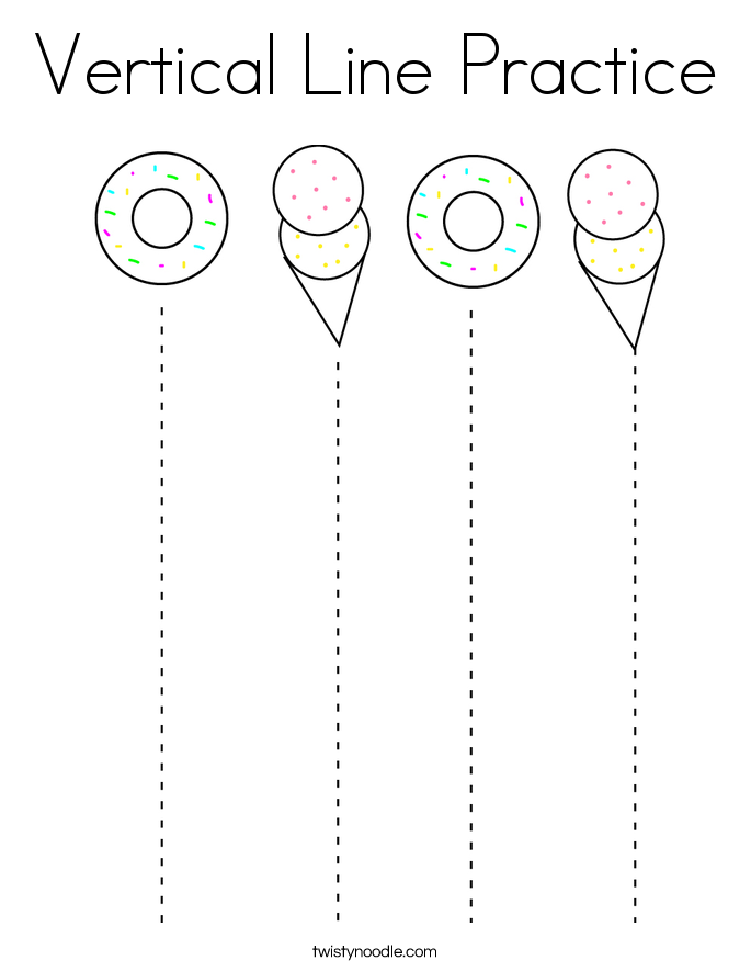 Vertical Line Practice Coloring Page