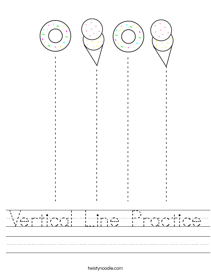 Vertical Line Practice Worksheet