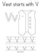 Vest starts with V Coloring Page