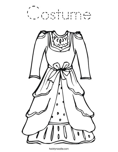 Vintage Dress Coloring Page