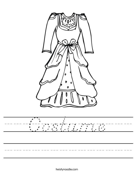 Vintage Dress Worksheet