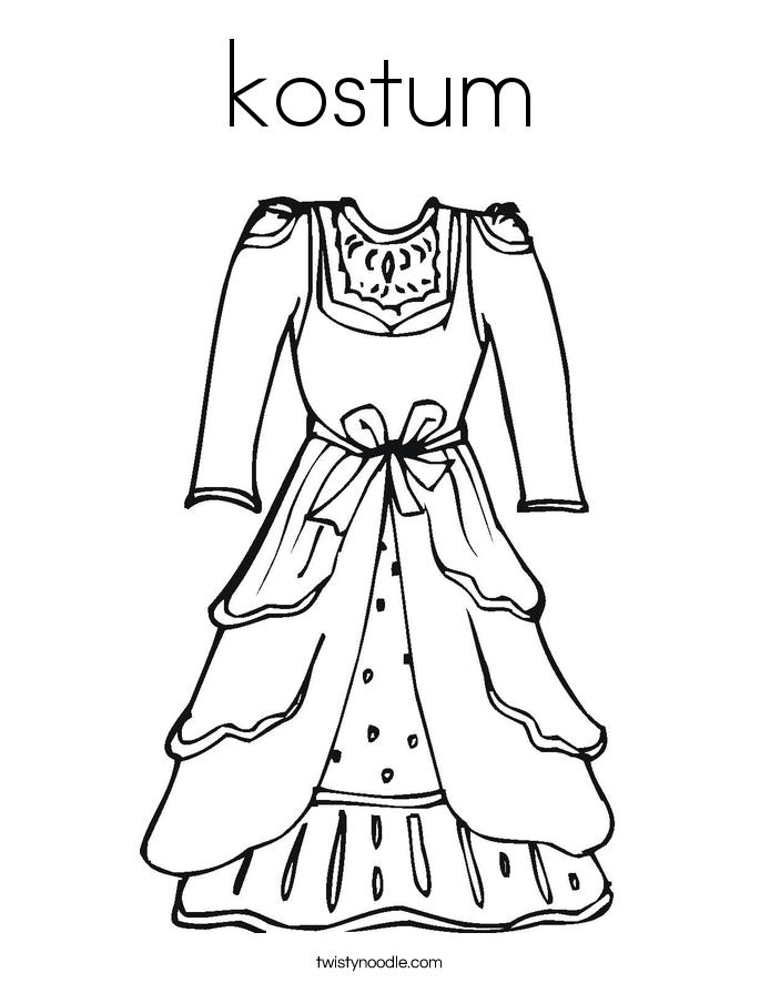 kostum coloring page dream