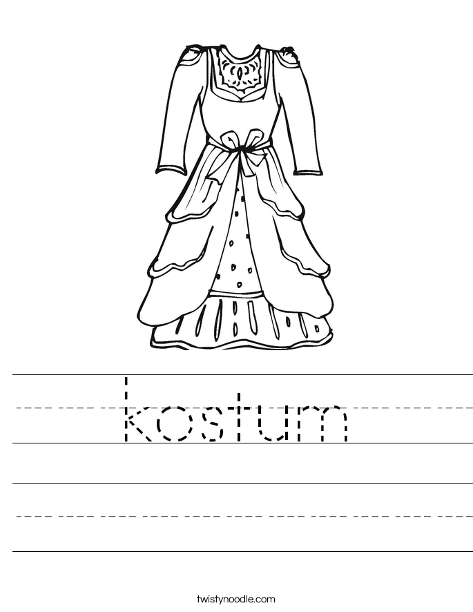 kostum Worksheet