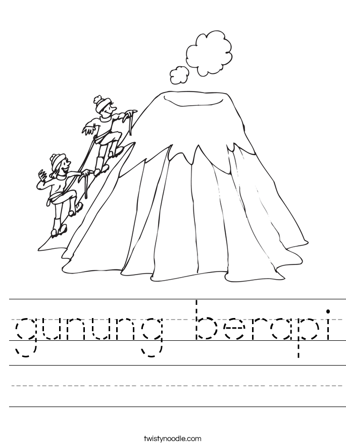 gunung berapi Worksheet