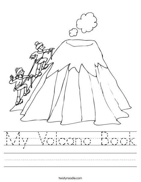 My Volcano Book Worksheet - Twisty Noodle