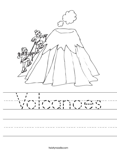 Volcanoes Worksheet Twisty Noodle