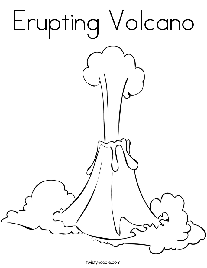 v is For Volcano Coloring Page Volcano Coloring Pages Clipart
