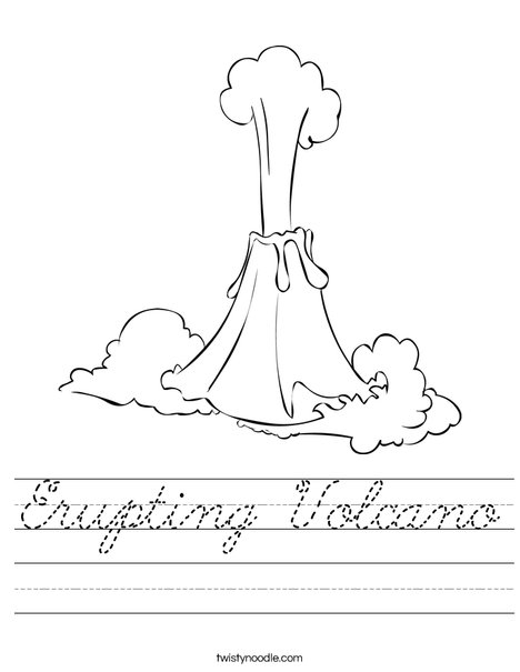 Erupting Volcano Worksheet