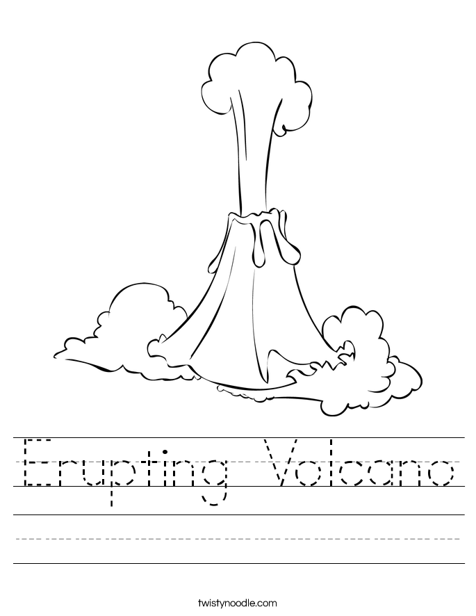 Erupting Volcano Worksheet