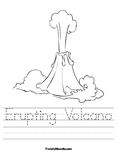 volcano work sheets image search results