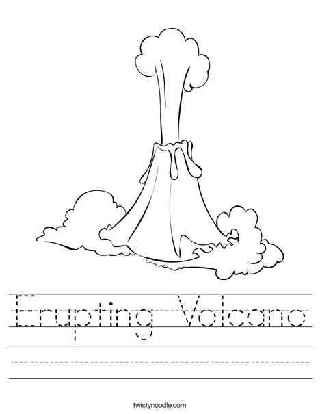 graphic relating to Volcano Printable known as Erupting Volcano Worksheet - Twisty Noodle