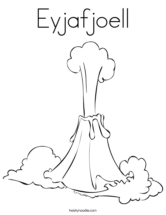 Eyjafjoell Coloring Page